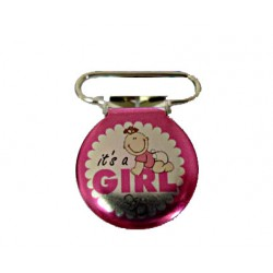 Clips napphållare, It is a Girl, 1-pack